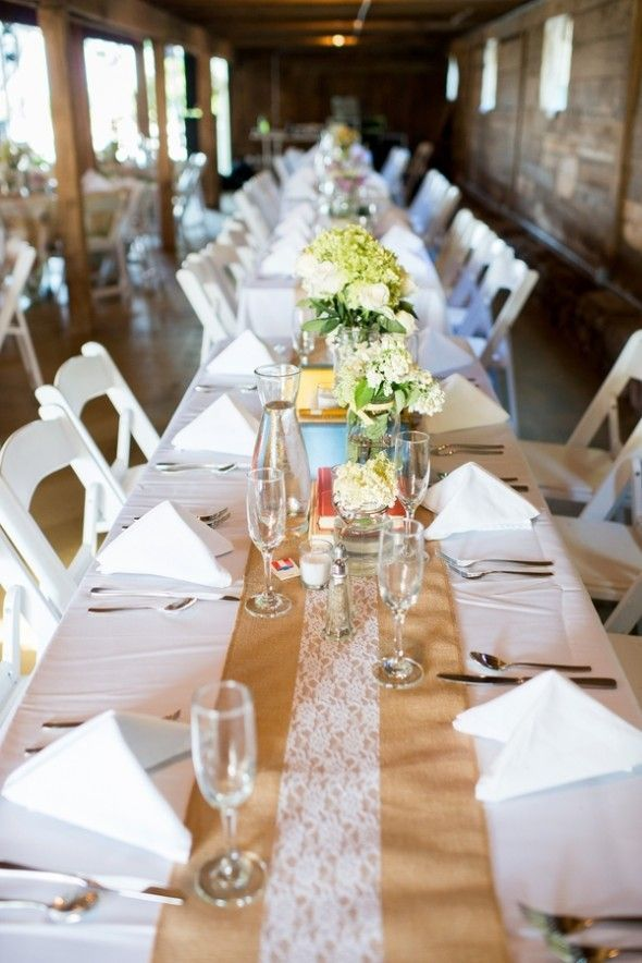 Southern Style Barn Wedding. Hessian WeddingsRustic WeddingsWedding RusticCountry  WeddingsCountry Wedding DecorationsTable ...