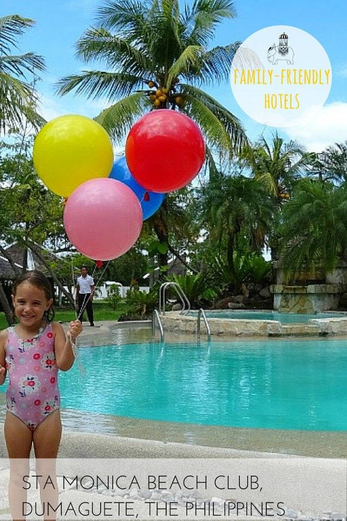 Hotel review for families: Sta Monica Beach Club, Dumaguete, Negros Oriental, The Philippines.  Pirates, waterfalls and sea turtles! Explore all this and more from the seaside retreat of Sta Monica Beach Resort, a charming hotel that families will love.  Best For: Families who love scuba diving and snorkelling; kids of all ages.