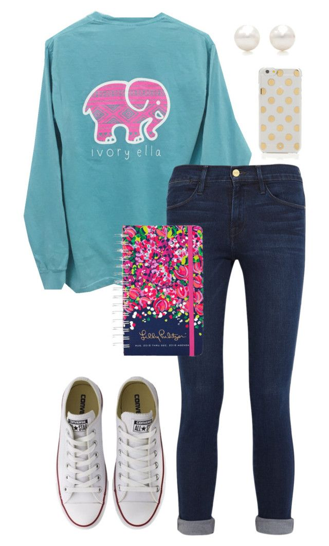 """Thanks to @emmig02 for clipping Ivory Ella!"" by sc-prep-girl on Polyvore featuring Frame Denim, Converse, Tiffany & Co., Lilly Pulitzer and Kate Spade"