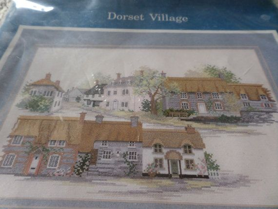 Cross  stitch kit complete kit Dorset Village by MaddisonsRainbow