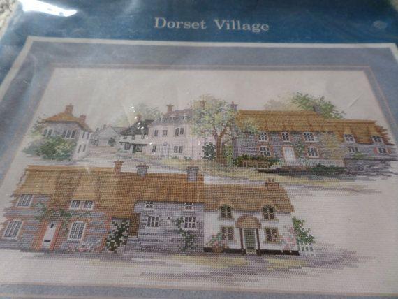 Cross  stitch kit complete kit Dorset Village by MaddisonsRainbow
