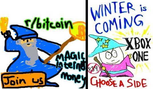 Bitcoin reddit ad created 06 Nov 2013 South Park Black Friday episode aired 13 Nov 2013