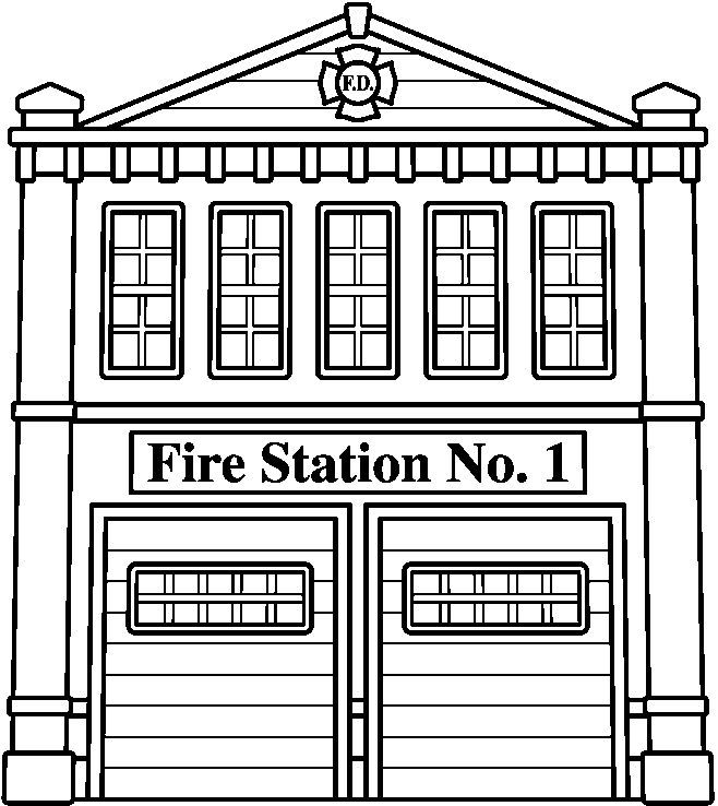 Fire Station Clip Art Black And White In Fire Station Clipart