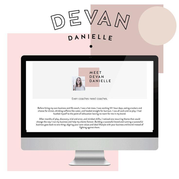 "Devan Danielle Branding + ""Go Live in 5"" Feminine Web Design — June Mango Design Boutique"