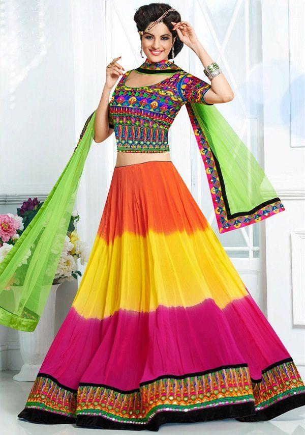 Image result for long skirt, lehenga saree for garba