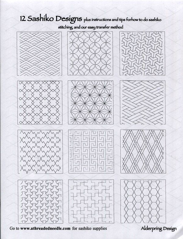 12 Sashiko Designs