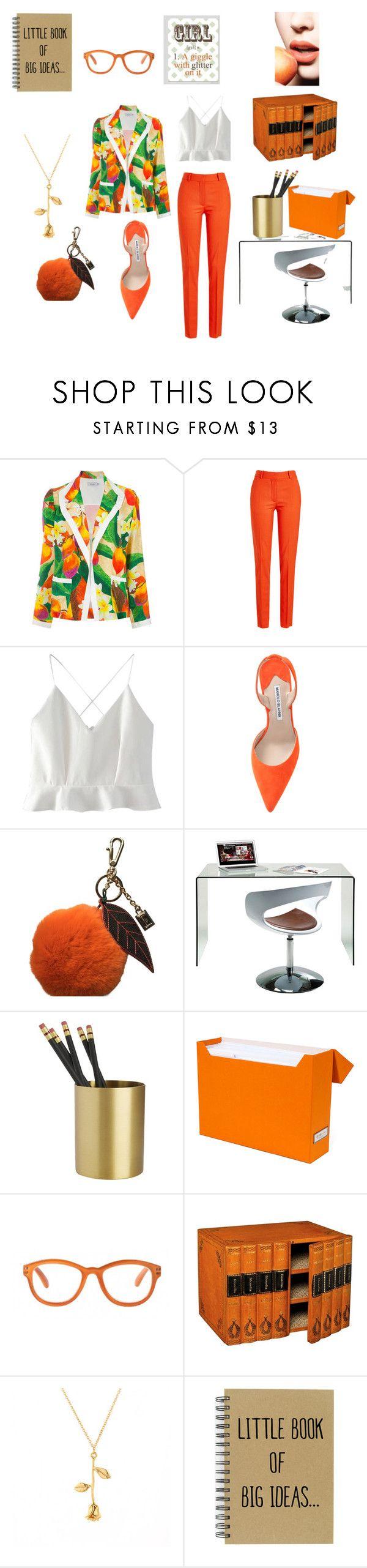 """Orange formal attire"" by miloni-jhaveri on Polyvore featuring Isolda, Victoria Beckham, WithChic, Manolo Blahnik, Dolce&Gabbana, Bigso and WALL"