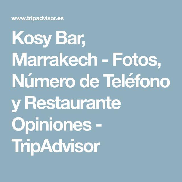 Kosy Bar, Marrakech - Fotos, Número de Teléfono y Restaurante Opiniones - TripAdvisor
