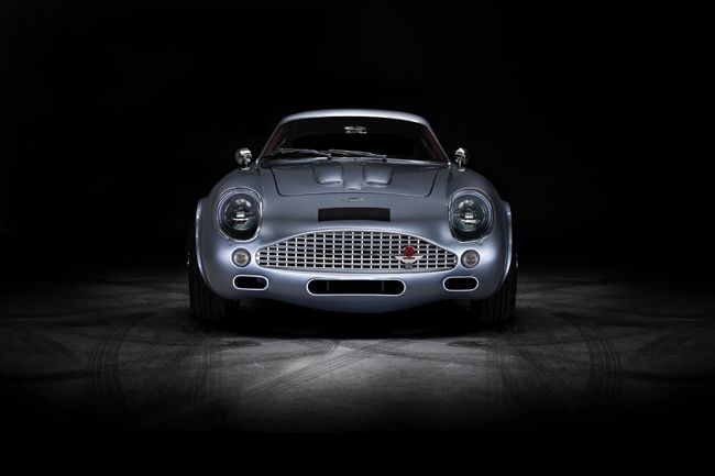 Aston Martin DB4 GT Zagato Lightpainted Studio Brochure Shot Evanta Richard Pardon Automotive Photographer Elinchrom Quadra