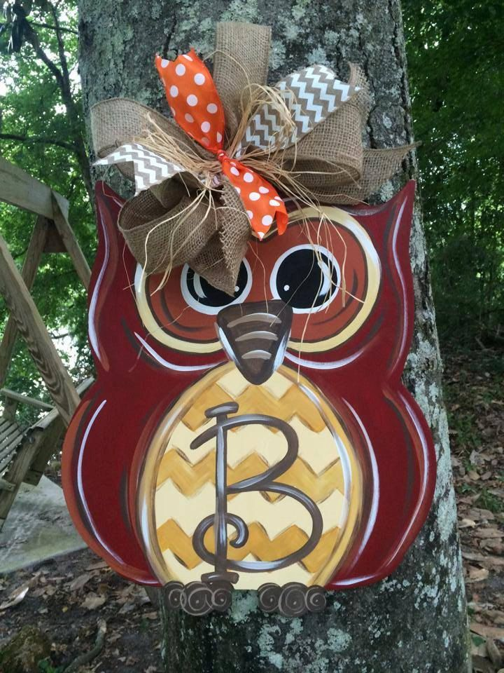 Owl Door Hanger by WhimsyGirlArt on Etsy
