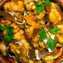 Gastronomia tipica de Navarra - Coliflor al Ajoarriero