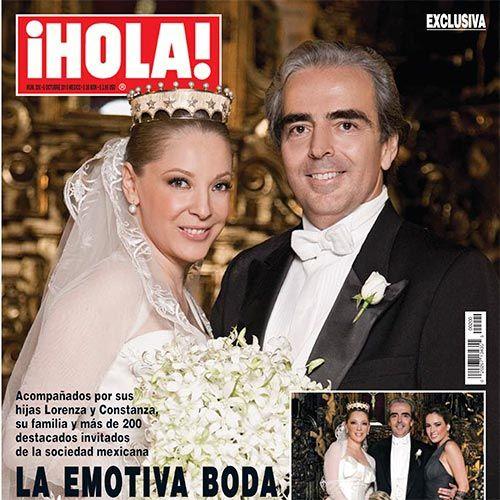 Hoy, en nuestro #TBT, la emotiva boda de Edith González y Lorenzo Lazo