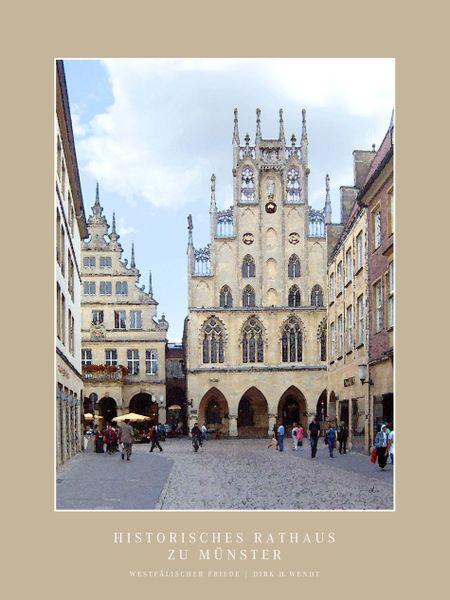 'Historisches Rathaus Münster' von Dirk h. Wendt bei artflakes.com als Poster oder Kunstdruck $19.41