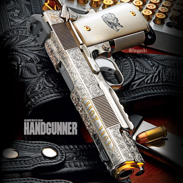 One of Dave Lauck's customs designed to honor the Texas Rangers and built on a Caspian frame and slide. | Click here to learn more: http://americanhandgunner.com/handguns-of-dave-lauck/ | #custom #1911 #davidlauck #texasrangers