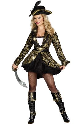 Golden Treasure Pirate Adult Costume - Pure Costumes