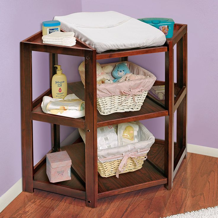 a better changing table. Who decided changing a baby from the side was a good idea! Love this design. Wish i could get something like this for Bailey...