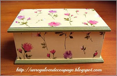 Un regalo en decoupage cajas con decoupage proyecto - Manualidades con cajas de madera ...