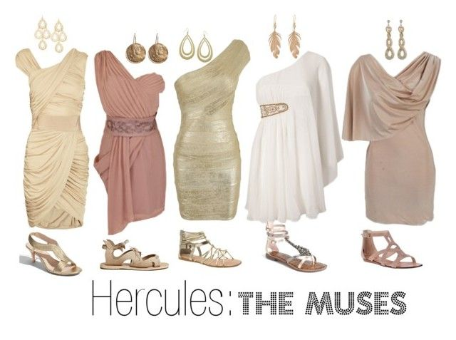 """""""Hercules: The Muses"""" by haley-williams ❤ liked on Polyvore featuring AX Paris, Dolce Vita, Sam Edelman, Ancient Greek Sandals, Ravel, Elie Tahari, Fantasy Jewelry Box, aB, Annette Ferdinandsen and Brooks Brothers"""