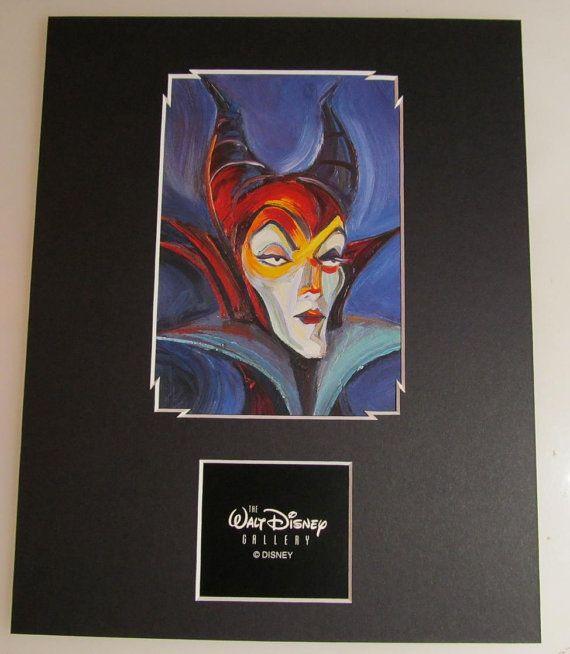 Maleficent Walt Disney Gallery custom matted 8x10 print Villains frame ready