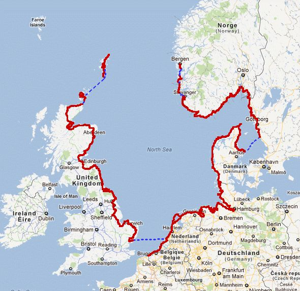 North Sea Cycle Route...would LOVE to do this