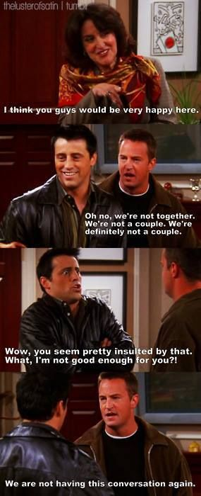 Joey and chandler lol