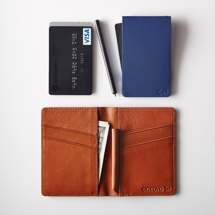 Step 1. Have an idea. Step 2. Pull out pen. Step 3. Write it on provided pad. Step 4. Dominate the world. And bonus, you have room for some bills and credit cards in a stylishly slim modern wallet. Look out world - @Octovo's Postman Leather Wallet is here to help you crush it. #octovo #wallet #notes #legend #leather #sportiquesf