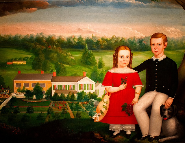 George and Emma Eastman, 1850.  Artist: Calvin Balis, American, 1817/18-1863. Oil on Canvas.Oil On Canvas