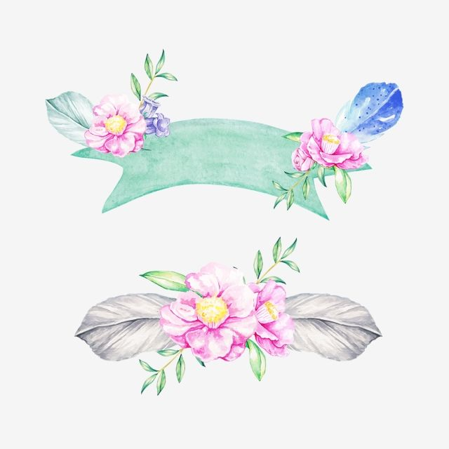 Beautiful Floral Banners Png Banner Flower Png And Vector With Transparent Background For Free Download Floral Banners Graphic Design Background Templates Floral