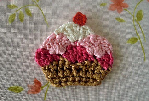 NEW-Cupcake Applique--( 1 pcs ) -01
