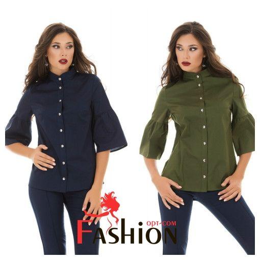☘7️⃣9️⃣1️⃣руб☘ Рубашка с рукавом-колокол №3054 Размер: S; M; L Производитель: Classic collection Ткань: Коттон Цвета: синий, бежевый, хаки