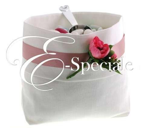 Sacco Confettata Lino Bianco - Shop per Colore - Bianco - accessori e gadget per matrimoni e feste - E-speciale