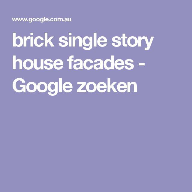 brick single story house facades - Google zoeken