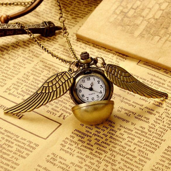Старинные бронзовые панк стимпанк кварцевые карманные часы Кулон цепь
