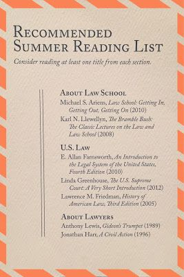 About those summer reading lists for the summer before law school... | brazenandbrunette.com