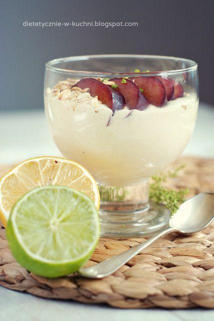 Moje Dietetyczne Fanaberie: Śniadaniowy mus sernikowy z limonką