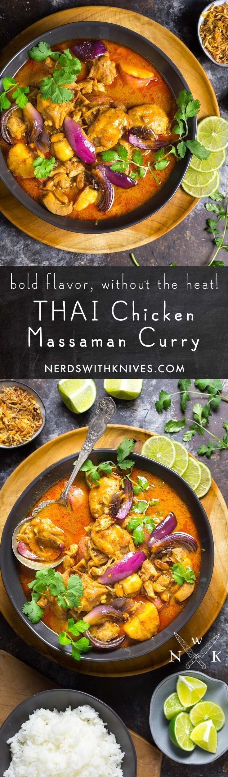 Chicken Massaman Curry is a rich and complex Thai dish, without the fiery heat. Our version is made with Wheat Beer, which gives a citrusy note.