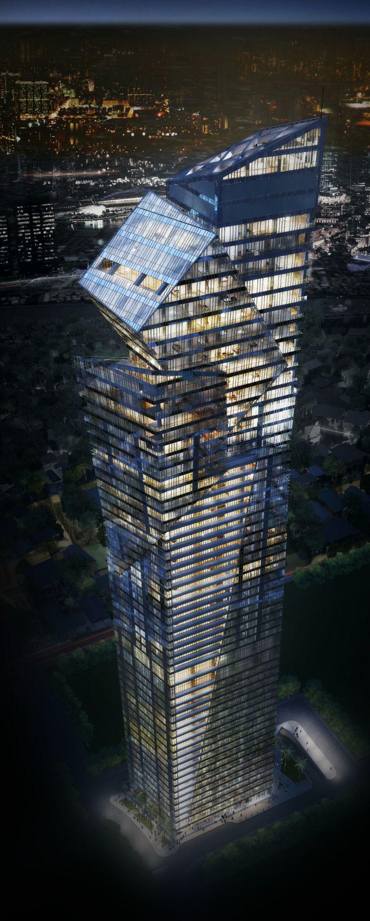 Century Spire, Makati City, Manila, Philippines by Studio Daniel Libeskind. Interior by Armani casa :: 60 floors