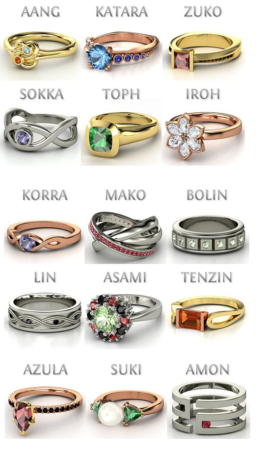 Character rings!  Gorgeous!