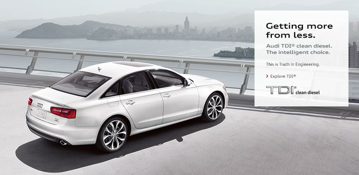 Getting more from less. That is the #Audi #TDI.