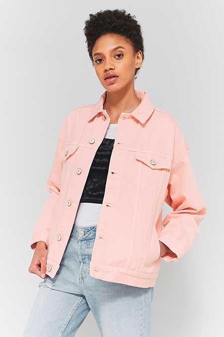BDG Pink Oversized Denim Jacket