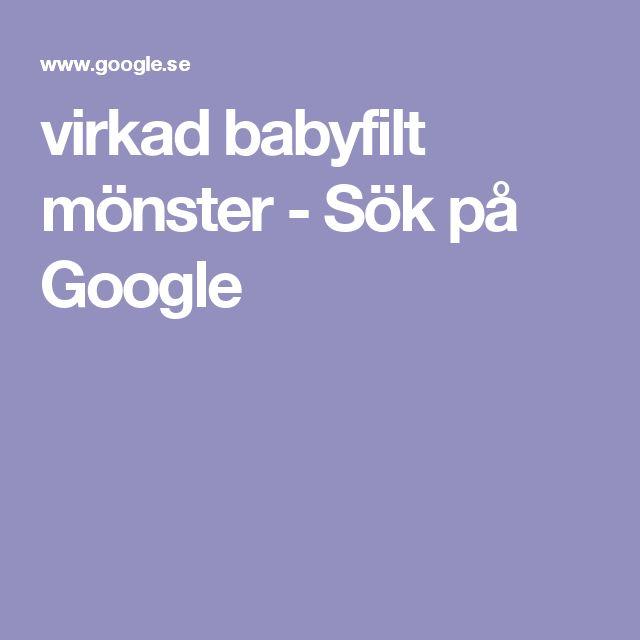 virkad babyfilt mönster - Sök på Google
