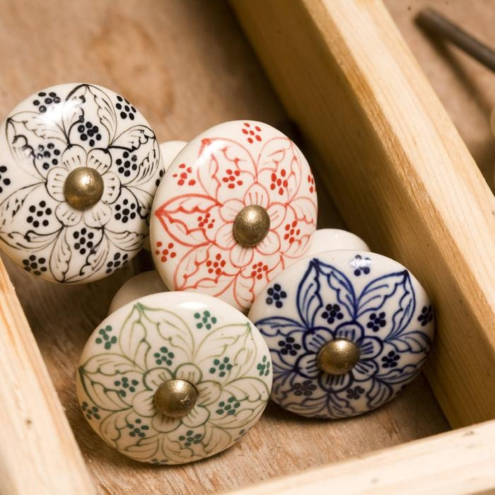 Daha Ceramic Door Knob from nkuku.com (they also have square and hexagonal ones)