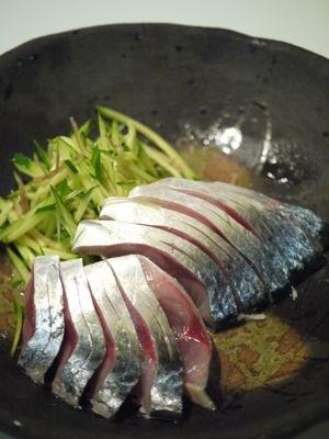 〆鯖 / SHIME SABA  (salted and vinegared mackerel SASHIMI)