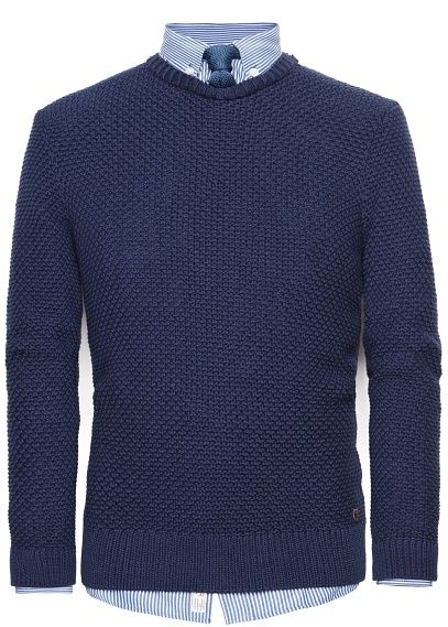 He by MANGO - Textured knit cotton sweater #SS14