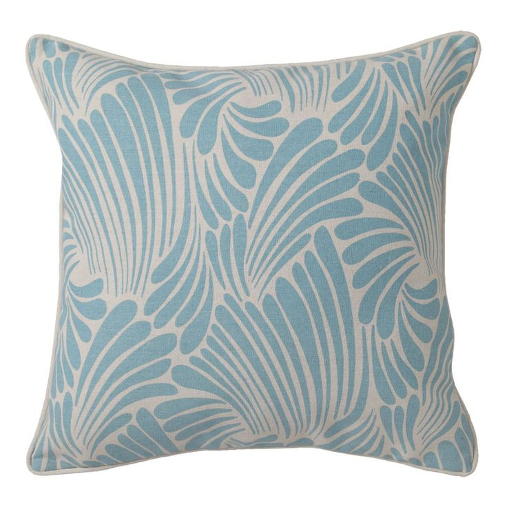 Florence Broadhurst Fingers Blue Square Filled Cushion