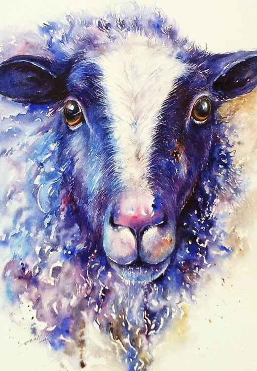 Blue Sheep (2016) Watercolours by Arti Chauhan | Artfinder