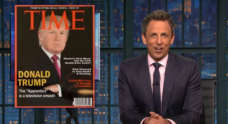 Fake News: Seth Meyers Mocks Donald Trump's Fake 'Time' Magazine Cover