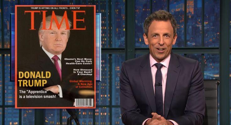 Fake News: Seth Meyers Mocks Donald Trump's Fake 'Time' Magazine Cover