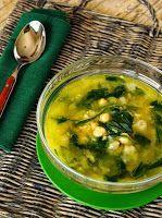 Sopa de Grão-de-Bico com Espinafre