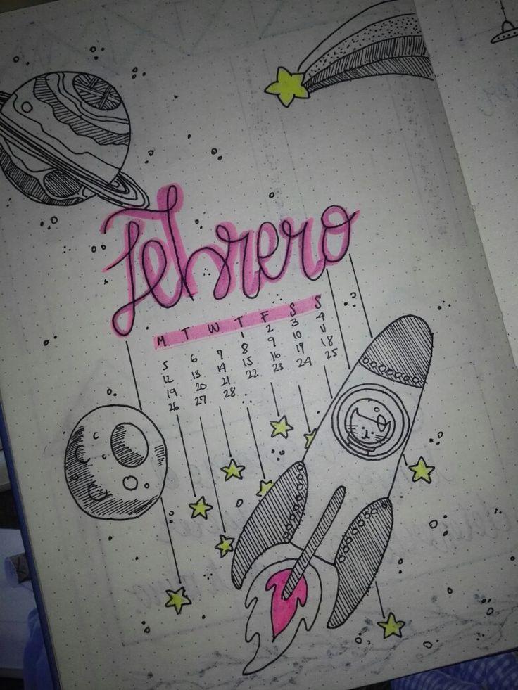 #bullet #journal #portada #february #febrero